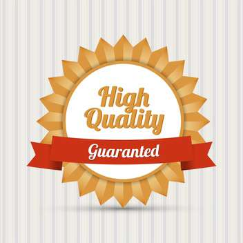Vintage High Quality vector label - vector gratuit #128307
