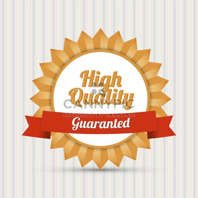 Vintage High Quality vector label - Free vector #128307