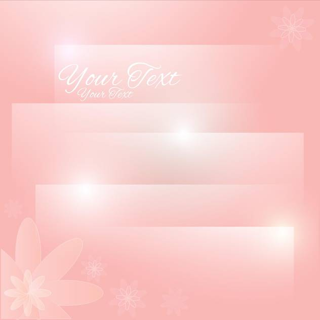 Abstract pastel floral background with place for text - Free vector #128317