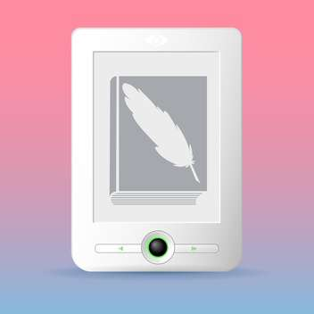 E-reader vector icon illustration - бесплатный vector #128337