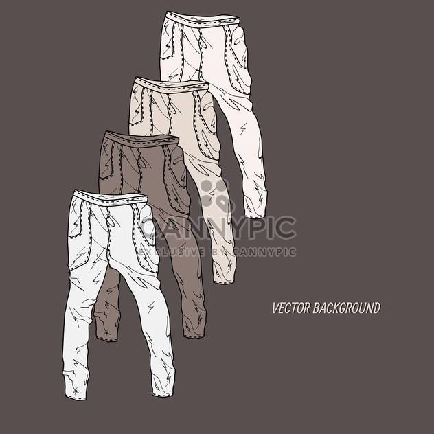 Set with pants vector icons - Free vector #128367