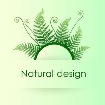 Vector green background with fern leafs - бесплатный vector #128417