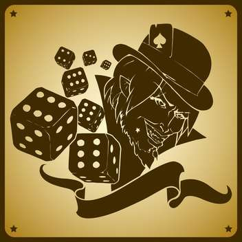 Vector illustration of joker and dices - Kostenloses vector #128477