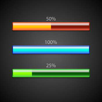 Vector set of loading bars. - vector gratuit #128557