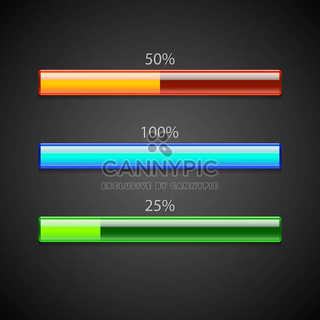 Vector set of loading bars. - Free vector #128557