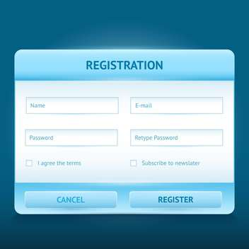Vector login and register glossy web form - vector gratuit #128607