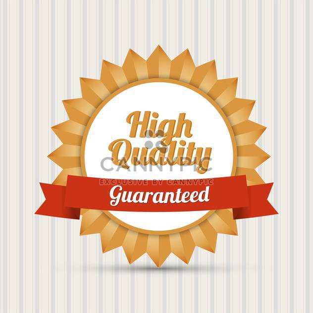 Vector retro badge with text high quality Guaranteed - Free vector #128617