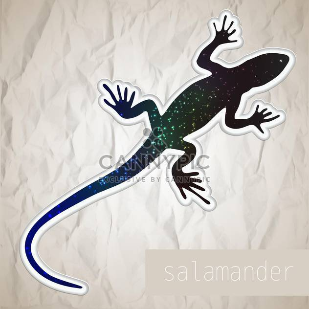 Vector illustration of abstract salamander. - Free vector #128637