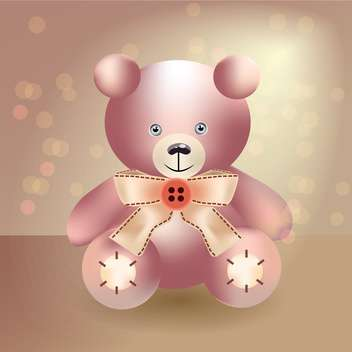 Vector illustration of cute teddy bear - Free vector #128657