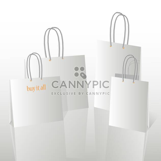 Vector Illustration of Shopping Bags with Copy Space - Free vector #128677