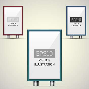 Vector illustration of clear billboards with copy space - vector gratuit #128697