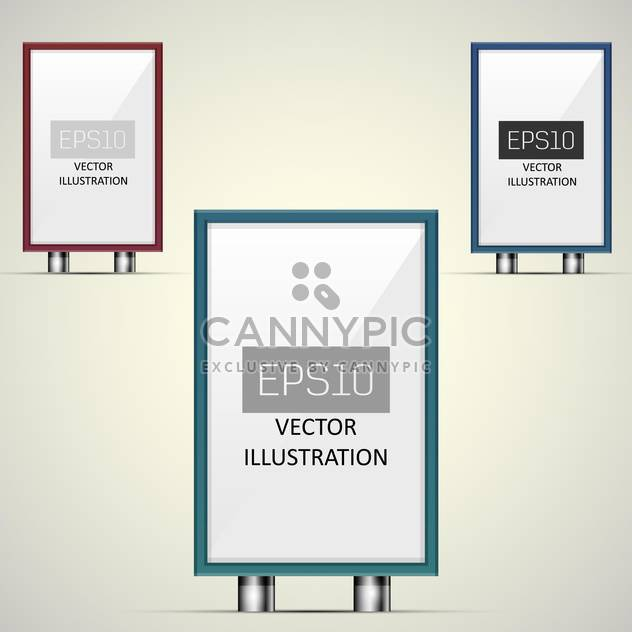 Vector illustration of clear billboards with copy space - Free vector #128697