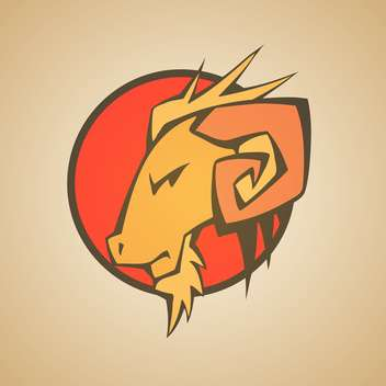 Vector Illustration of Ram Graphic Mascot Head with Horns - vector #128707 gratis