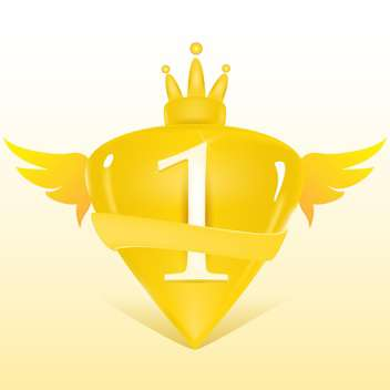 Vector illustration of 1st place golden crest - бесплатный vector #128757