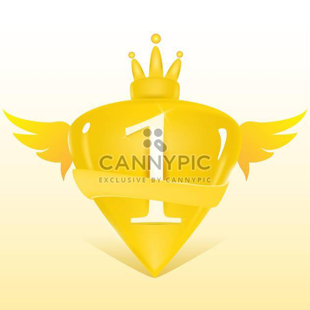 Vector illustration of 1st place golden crest - Free vector #128757