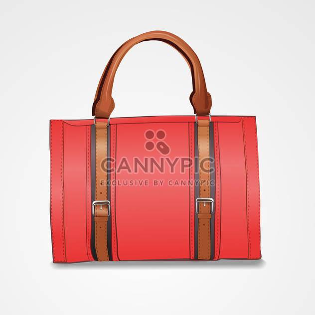 Vector illustration of leather briefcase on white background - Free vector #128857