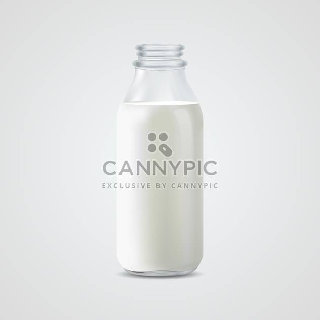 Vector Illustration of full milk bottle on white background - Free vector #128897