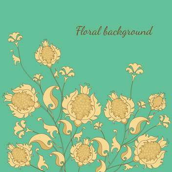 Vector illustration of floral background - vector gratuit #128937