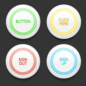 set of colorful vector buttons - Free vector #128987
