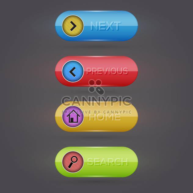 web vector buttons set - Free vector #128997
