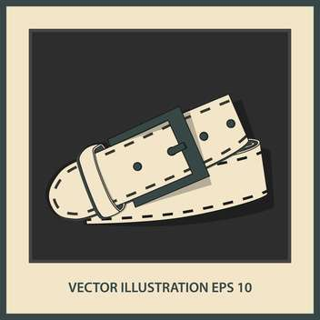 vector leather belt illustration - vector gratuit #129027