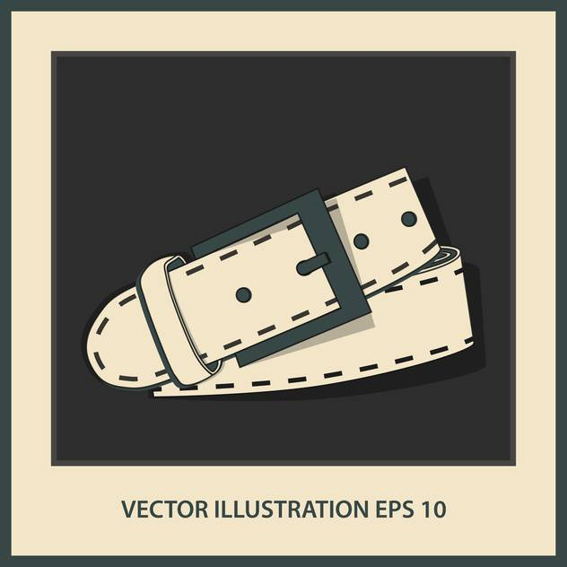 vector leather belt illustration - vector #129027 gratis
