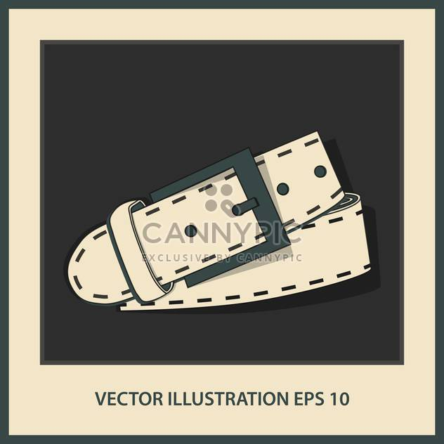 vector leather belt illustration - Free vector #129027