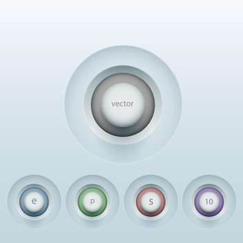 set of colorful 3d buttons - Free vector #129037