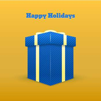 happy holidays greeting card - vector #129047 gratis