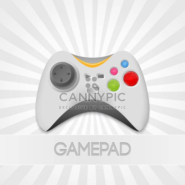 vector game-pad controller Illustration - Free vector #129097