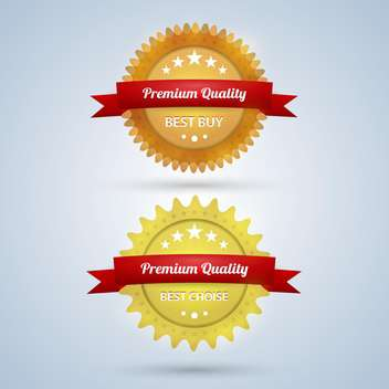vector premium quality badges - vector gratuit #129107