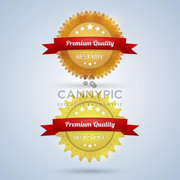 vector premium quality badges - Free vector #129107