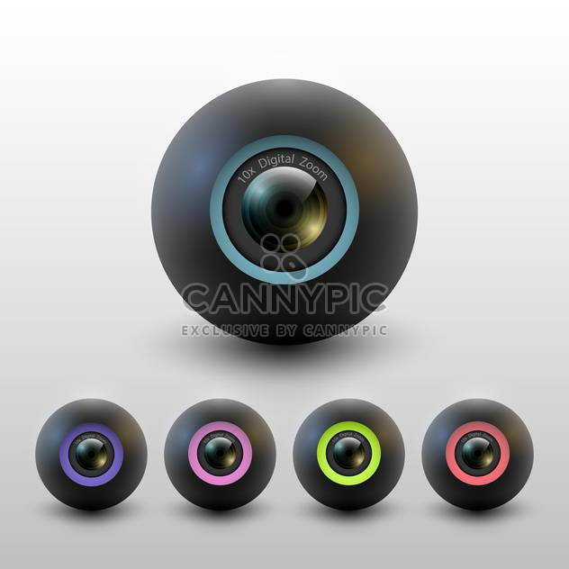 camera lenses vector set - Free vector #129167