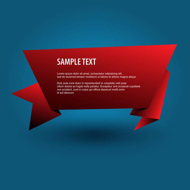 red origami banner background - vector gratuit #129187