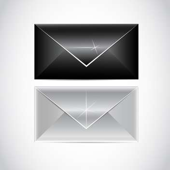 vector black and white envelopes - vector gratuit #129207