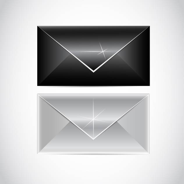 vector black and white envelopes - Free vector #129207