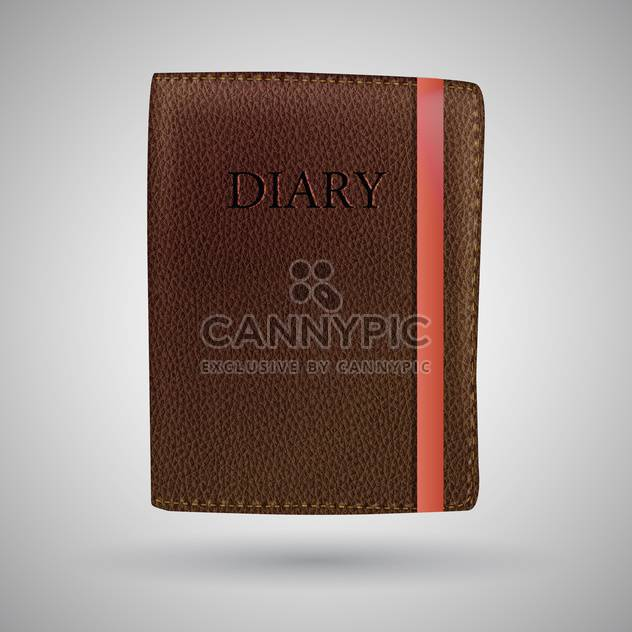 leather diary book illustration - Free vector #129217