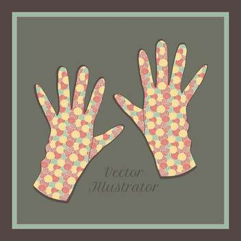 vector background with colorful gloves set - vector gratuit #129227