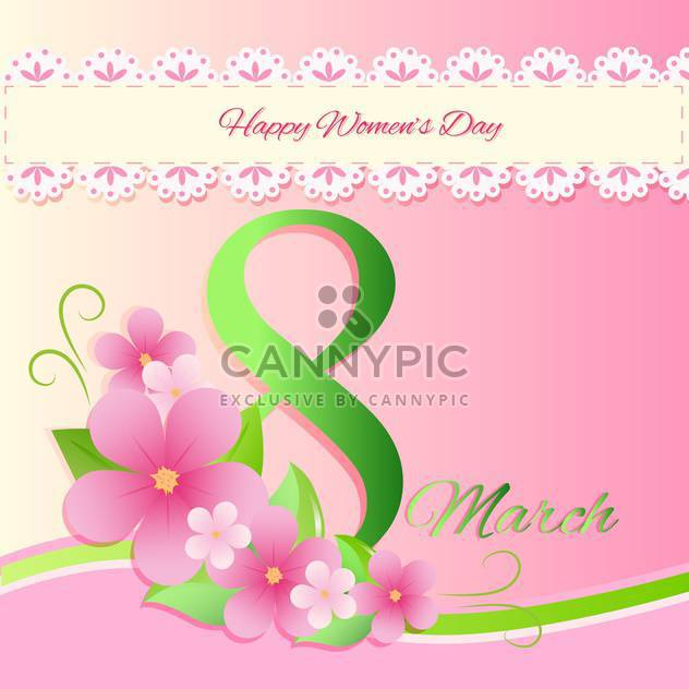 women's day vector greeting card - Free vector #129247