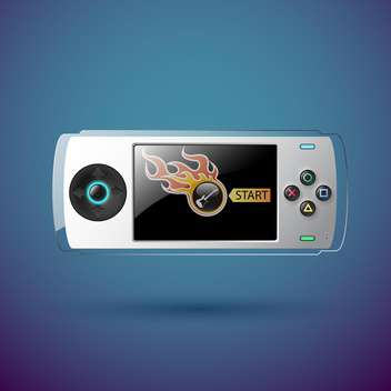 vector portable game console - vector gratuit #129277