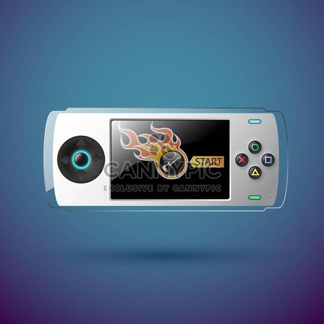 vector portable game console - Free vector #129277