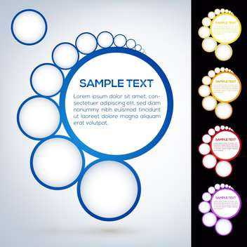 Vector set of abstract web design bubbles - vector gratuit #129367