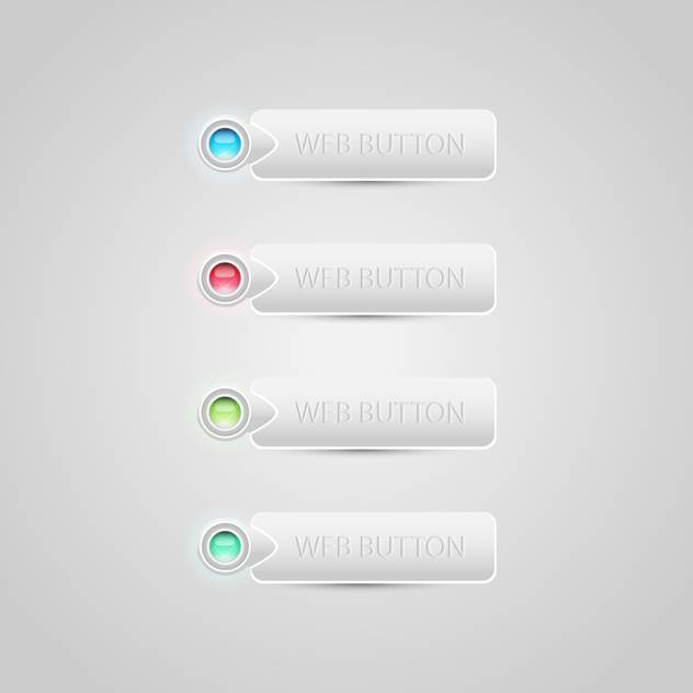 Vector colorful buttons on gray background - Free vector #129457