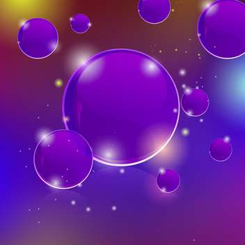 Vector glowing abstract purple background with bubbles - Free vector #129527