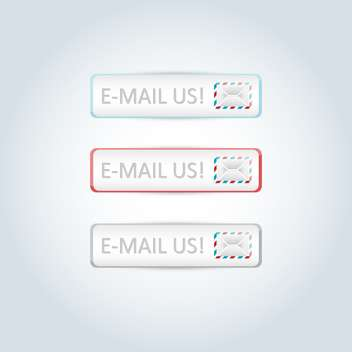 Vector set of mail design elements for website - Free vector #129607