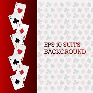 Vector card suits background - vector #129767 gratis