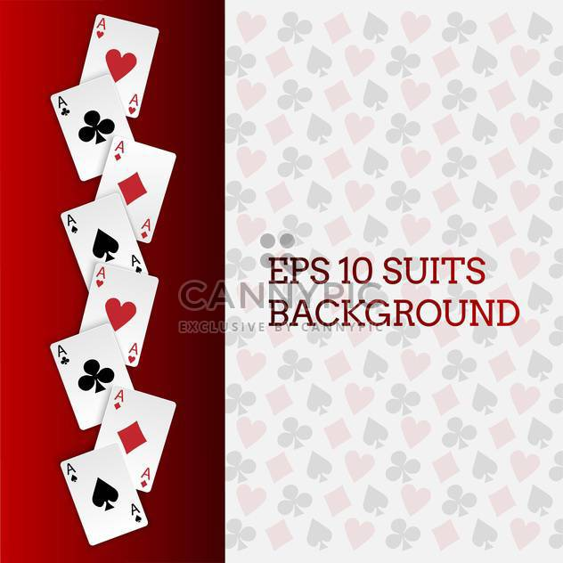 Vector card suits background - Free vector #129767