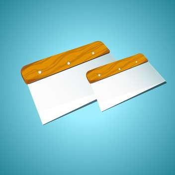 Vector illustration of two spatulas on blue background - vector gratuit #129817