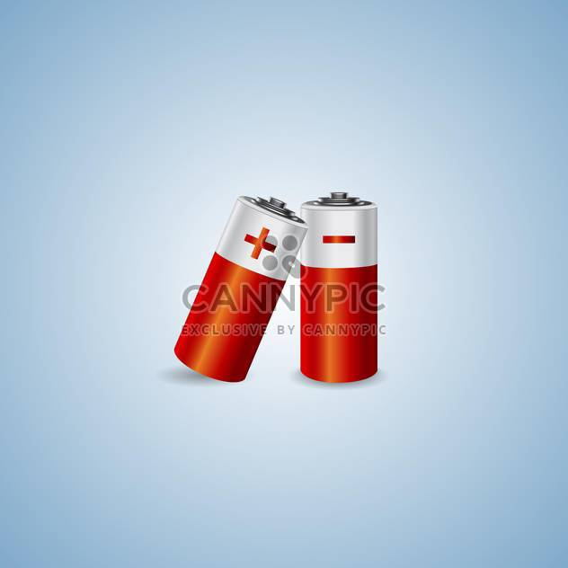 Vector illustration of two batteries on blue background - Free vector #129837