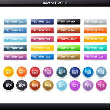 Vector set of colorful buttons icons - vector gratuit #129917